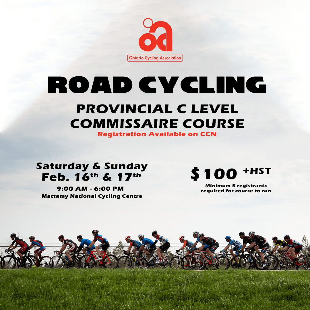 2019 Road Provincial Level C Commissaire Course - Ontario Cycling